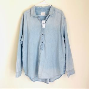American Eagle Light Denim Pullover Tunic XXL NWT